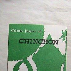 Barajas de cartas: CURIOSAS INSTRUCCIONES FOURNIER COMO JUGAR AL CHINCHÓN. 1969.. Lote 31332844