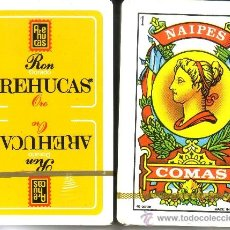 Barajas de cartas: RON AREHUCAS - BARAJA ESPAÑOLA 40 CARTAS. Lote 31336684