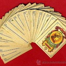 Barajas de cartas: BARAJA SIMEON DURA, PEQUEÑA , VALENCIA, COMPLETA, 40 CARTAS, REVERSO AZUL , ANTIGUA, ORIGINAL, B. Lote 31399123