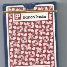 Barajas de cartas: 3874- ESTUCHE DE CARTON CON BARAJAS FOURNIER -PUBLICIDAD DE BANCO PASTOR. Lote 31666995