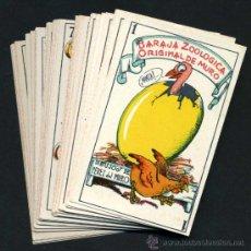 Barajas de cartas: BARAJA ZOOLOGICA MURO, COMPLETA , 40 NAIPES, PUBLICIDAD AZAFRAN BARAJA NOVELDA ,ORIGINAL , RB. Lote 165258546