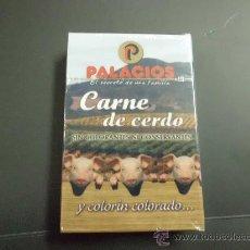 Barajas de cartas: BARAJA NAIPE NUEVA EXTRENAR CON PUBLICIDAD CHORIZO PALACIOS. Lote 31868459