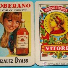 Mazzi di carte: BARAJA DE CARTAS ESPAÑOLA. FOURNIER. AÑOS 70 -80. SOBERANO COSA DE HOMBRES. MUJER. BRANDY. . Lote 31885610