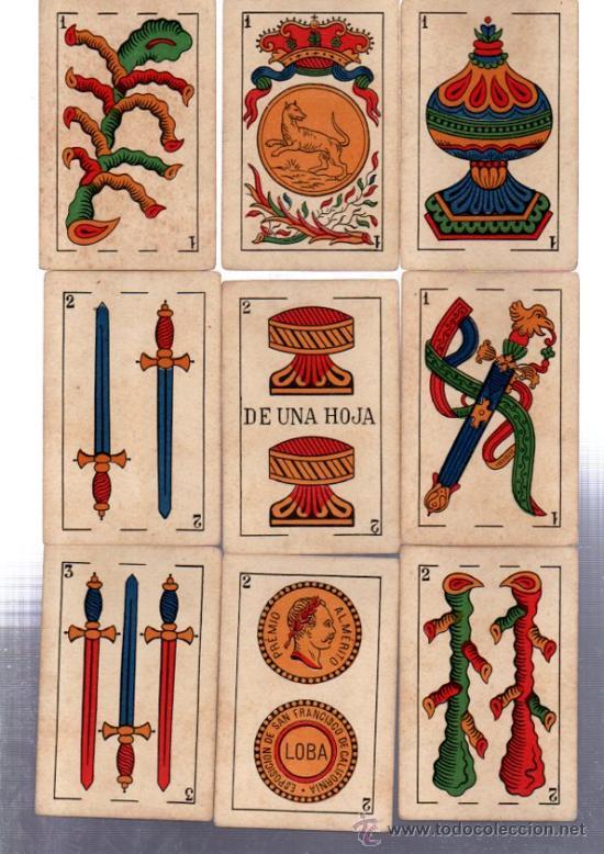 Barajas de cartas: BARAJA MARCA LA LOBA, 40 CARTAS, 1928 - Foto 2 - 31876320