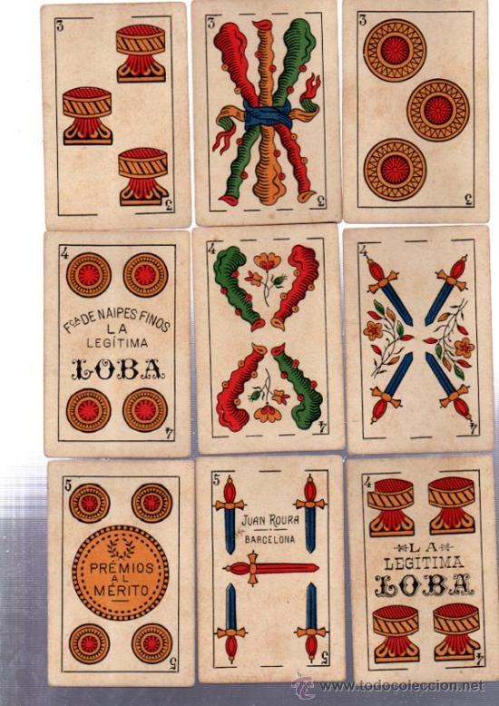 Barajas de cartas: BARAJA MARCA LA LOBA, 40 CARTAS, 1928 - Foto 6 - 31876320
