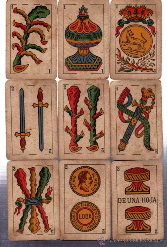 BARAJA LA LOBA, 40 CARTAS, 1939, HISPANO AMERICANA, JUAN ROURA (Juguetes y Juegos - Cartas y Naipes - Baraja Española)