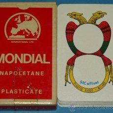 Barajas de cartas: BARAJA DE CARTAS NAPOLITANA. AÑOS 50 - 60. MONDIAL NAPOLETANE- NAPOLES, ITALIA. . Lote 31900484