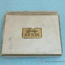 Barajas de cartas: PAREJA DE BARAJAS DE CARTAS BRIDGE AVION. FOURNIER. ANTIGUAS DE POQUER. POKER.. Lote 31922027