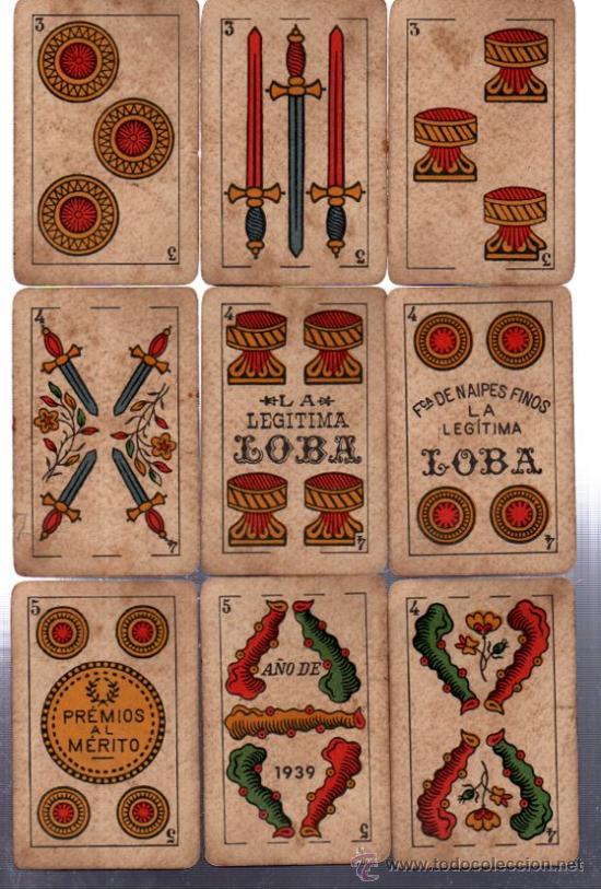 Barajas de cartas: BARAJA LA LOBA, 40 CARTAS, 1939, HISPANO AMERICANA, JUAN ROURA - Foto 4 - 31887065