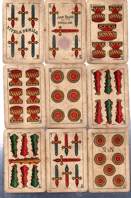 Barajas de cartas: BARAJA LA LOBA, 40 CARTAS, 1939, HISPANO AMERICANA, JUAN ROURA - Foto 3 - 31887065