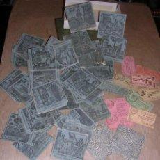 Barajas de cartas: JUEGO DE 48 CARTAS +10 VALES ANTIGUO -CADA CARTA 4,5X4,5 CM. NO SABEMOS EL JUEGO QUE ES ,VER FOTOGRA. Lote 31956891