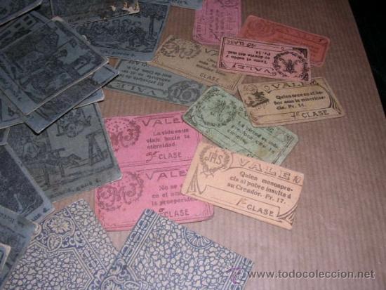 Barajas de cartas: JUEGO DE 48 CARTAS +10 VALES ANTIGUO -CADA CARTA 4,5X4,5 CM. NO SABEMOS EL JUEGO QUE ES ,VER FOTOGRA - Foto 2 - 31956891