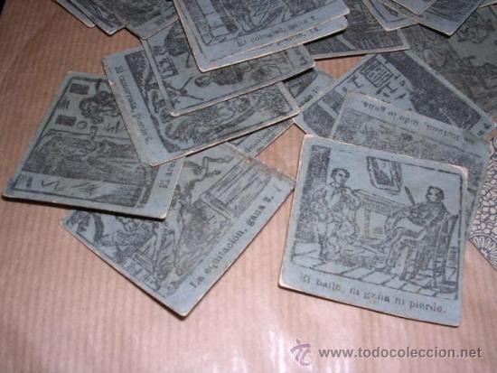 Barajas de cartas: JUEGO DE 48 CARTAS +10 VALES ANTIGUO -CADA CARTA 4,5X4,5 CM. NO SABEMOS EL JUEGO QUE ES ,VER FOTOGRA - Foto 3 - 31956891