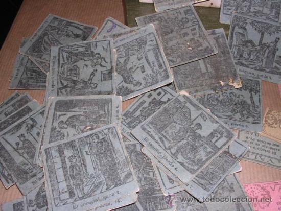 Barajas de cartas: JUEGO DE 48 CARTAS +10 VALES ANTIGUO -CADA CARTA 4,5X4,5 CM. NO SABEMOS EL JUEGO QUE ES ,VER FOTOGRA - Foto 4 - 31956891