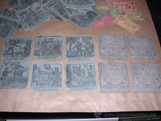 Barajas de cartas: JUEGO DE 48 CARTAS +10 VALES ANTIGUO -CADA CARTA 4,5X4,5 CM. NO SABEMOS EL JUEGO QUE ES ,VER FOTOGRA - Foto 5 - 31956891