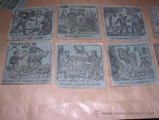Barajas de cartas: JUEGO DE 48 CARTAS +10 VALES ANTIGUO -CADA CARTA 4,5X4,5 CM. NO SABEMOS EL JUEGO QUE ES ,VER FOTOGRA - Foto 7 - 31956891
