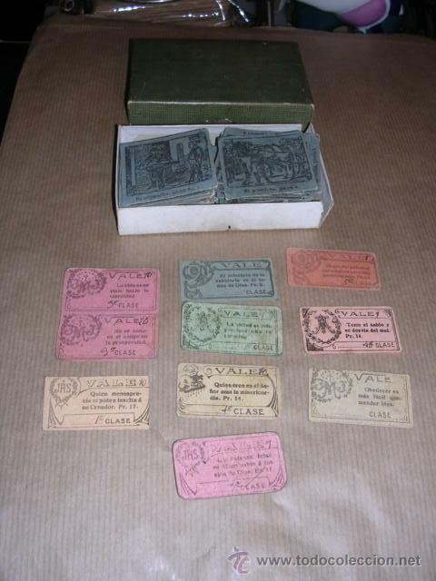 Barajas de cartas: JUEGO DE 48 CARTAS +10 VALES ANTIGUO -CADA CARTA 4,5X4,5 CM. NO SABEMOS EL JUEGO QUE ES ,VER FOTOGRA - Foto 8 - 31956891