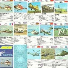 Barajas de cartas: MINI BARAJA MINICART - HELICOPTEROS. Lote 46108284