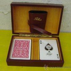 Barajas de cartas: CAJA DE JUEGO CON CARTAS Y DADOS. Lote 32011218