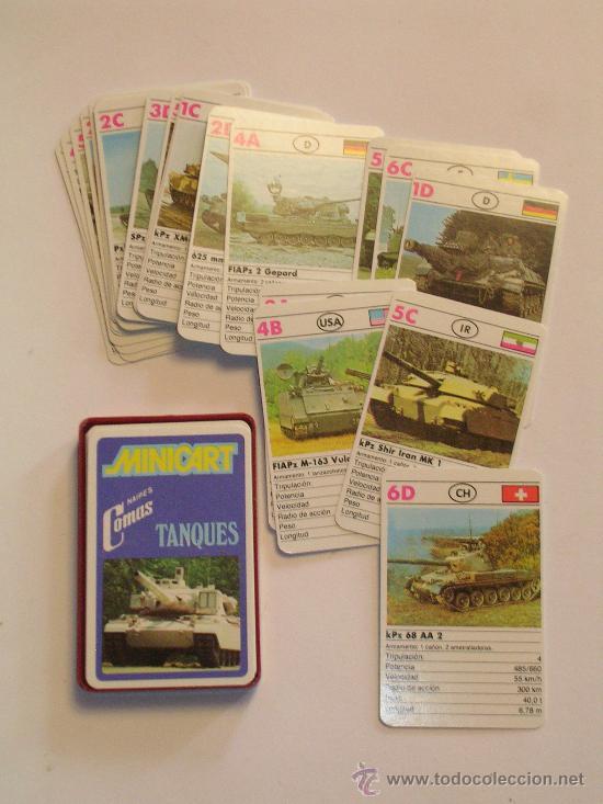 BARAJA DE CARTAS MINICART TANQUES - NAIPES COMAS (Juguetes y Juegos - Cartas y Naipes - Otras Barajas)