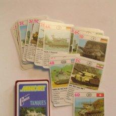 Barajas de cartas: BARAJA DE CARTAS MINICART TANQUES - NAIPES COMAS. Lote 107861058