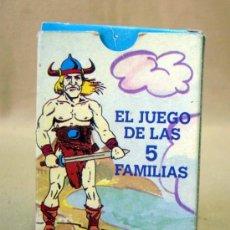 Barajas de cartas: BARAJA, CARTAS, NAIPES, EL JUEGO DE LAS 5 FAMILIAS, JUEGO DE PAREJAS, VARITEMAS. Lote 32261963