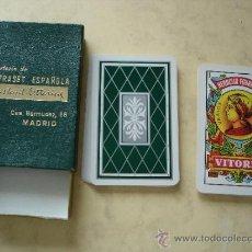 Barajas de cartas: NAIPE ESPAÑOL - HERACLIO FOURNIER Nº 27 - CON PUBLICIDAD LETRASET ESPAÑOLA. Lote 32431847