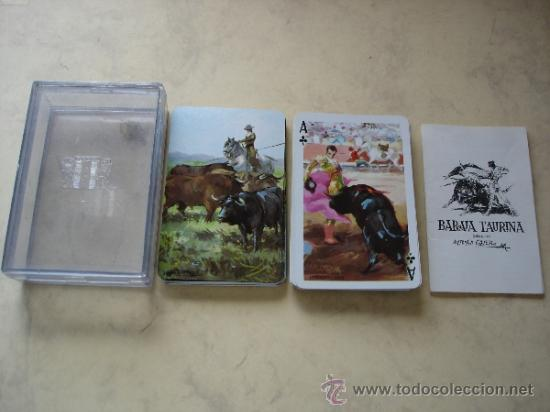 NAIPE POKER - HERACLIO FOURNIER - BARAJA TAURINA, DIBUJOS DE ANTONIO CASERO (Juguetes y Juegos - Cartas y Naipes - Barajas de Póker)