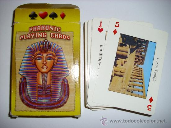 BARAJA DE CARTAS PHARONIC PLAYING CARDS 54 NAIPES EGIPTO (Juguetes y Juegos - Cartas y Naipes - Otras Barajas)