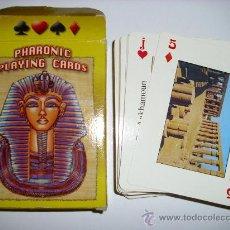 Barajas de cartas: BARAJA DE CARTAS PHARONIC PLAYING CARDS 54 NAIPES EGIPTO. Lote 32381562
