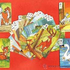 Barajas de cartas: BARAJA / NAIPES - PATITO FEO/ DALMATAS/ ARISTOGATOS / BANBI- 30 CARTAS - INCOMPLETA - H. FOURNIER. Lote 32821679