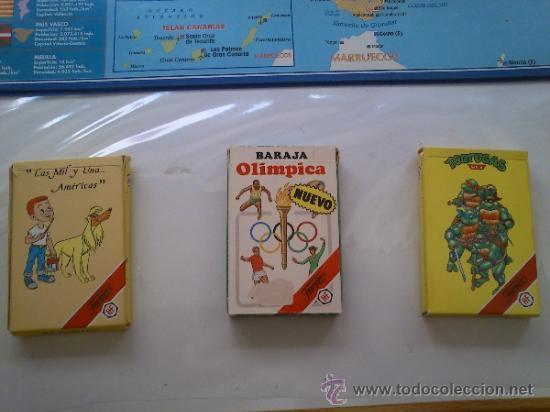 3 BARAJA BARAJAS FOURNIER TORTUGAS NINJA OLIMPIADAS OLIMPICA LAS MIL Y UNA AMERICAS (Juguetes y Juegos - Cartas y Naipes - Barajas Infantiles)