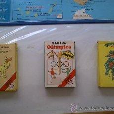 Barajas de cartas: 3 BARAJA BARAJAS FOURNIER TORTUGAS NINJA OLIMPIADAS OLIMPICA LAS MIL Y UNA AMERICAS. Lote 32903174