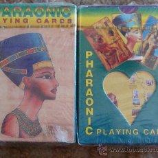 Barajas de cartas: BARAJA DE CARTAS PÓKER. IMÁGENES EGIPCIAS. ANTIGUO EGIPTO, PRECINTADA. FARAÓN. . Lote 112081990