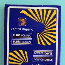 Barajas de cartas: BARAJA ESPAÑOLA NAPES HERACLIO FOURNIER - 40 CARTAS - CON CAJA - PUBLICIDAD CENTRAL HISPANO. Lote 33067154