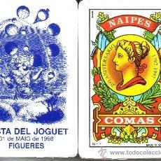 Barajas de cartas: FESTA DEL JOGUET FIGUERES - BARAJA ESPAÑOLA 50 CARTAS. Lote 33107797