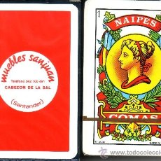 Barajas de cartas: MUEBLES SAN JUAN - CABEZÓN DE LA SAL - BARAJA ESPAÑOLA 40 CARTAS. Lote 33138980