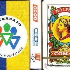 Barajas de cartas: UGT -CC OO - CEOE -TU TRABAJO DIGNIFICA - BARAJA ESPAÑOLA 40 CARTAS. Lote 33139487