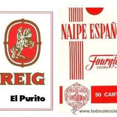 Barajas de cartas: NAIPE ESPAÑOL FOURNIER - PURITOS REIG - NUEVA DE QUIOSCO - IMPECABLE. Lote 33179611
