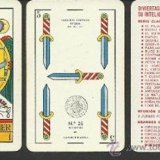 Barajas de cartas: BARAJA COMPLETA ANTIGUA - 48 CARTAS +2 COMODINES +CARTA ADIC. -VER FOTOS ADIC.- (CR-110). Lote 33189304