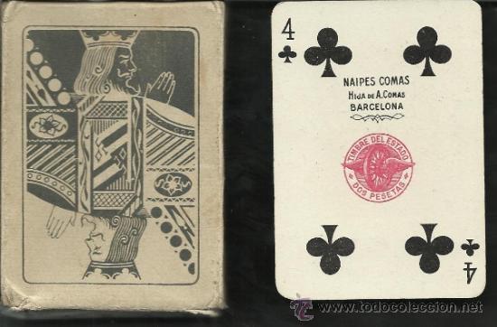 BARAJA COMPLETA ANTIGUA 52 CARTAS + 2 COMOD. COMAS - PIRELLI CON CAJA -VER FOTOS ADIC.- (CR-117) (Juguetes y Juegos - Cartas y Naipes - Baraja Española)