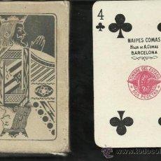 Barajas de cartas: BARAJA COMPLETA ANTIGUA 52 CARTAS + 2 COMOD. COMAS - PIRELLI CON CAJA -VER FOTOS ADIC.- (CR-117). Lote 33190220