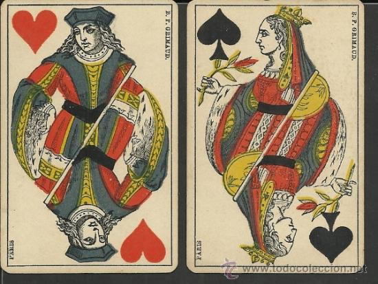 BARAJA COMPLETA ANTIGUA FRANCESA 52 CARTAS - GRIMAUD - PARIS -VER FOTOS ADIC.- (CR-118) (Juguetes y Juegos - Cartas y Naipes - Baraja Española)