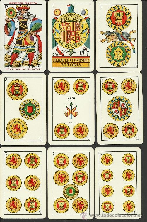 Barajas de cartas: BARAJA COMPLETA ANTIGUA - 48 CARTAS +2 COMODINES +CARTA ADIC. -VER FOTOS ADIC.- (CR-110) - Foto 2 - 33189304