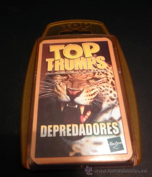 BARAJA DE CARTAS * TOP TRUMPS DEPREDADORES * HASBRO * COMPLETO (Juguetes y Juegos - Cartas y Naipes - Barajas Infantiles)