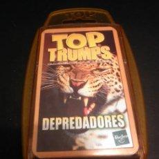 Barajas de cartas: BARAJA DE CARTAS * TOP TRUMPS DEPREDADORES * HASBRO * COMPLETO. Lote 33252470