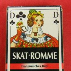 Barajas de cartas: NAIPES FOURNIER SKAT-ROMME FRANZÖSISCHES BILD 55 CARTAS. Lote 33398683