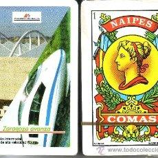 Barajas de cartas: AVE ZARAGOZA - BARAJA ESPAÑOLA 40 CARTAS. Lote 33349922