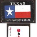 Barajas de cartas: BARAJA * TEXAS , THE LONE STAR STATE * SIN DESPRECINTAR. Lote 33370348