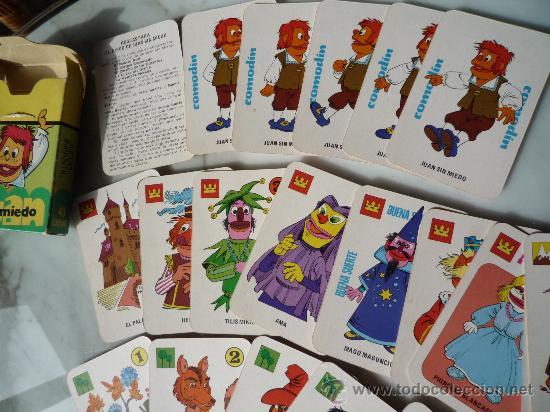 BARAJA NAIPES / JUEGO 40 CARTAS *EL JUEGO DE JUAN SIN MIEDO* EDICIONES RECREATIVAS. ORIGINAL 1979. (Juguetes y Juegos - Cartas y Naipes - Barajas Infantiles)